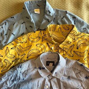 Set of (3) boys short sleeve button ups